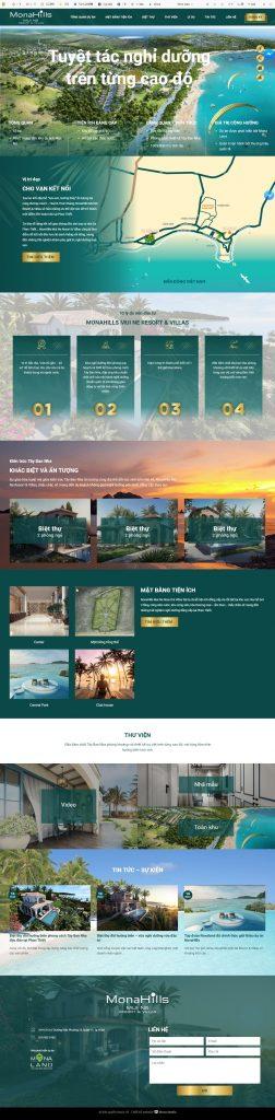 Landingpage cho mẫu thiết kế website khách sạn 5 sao