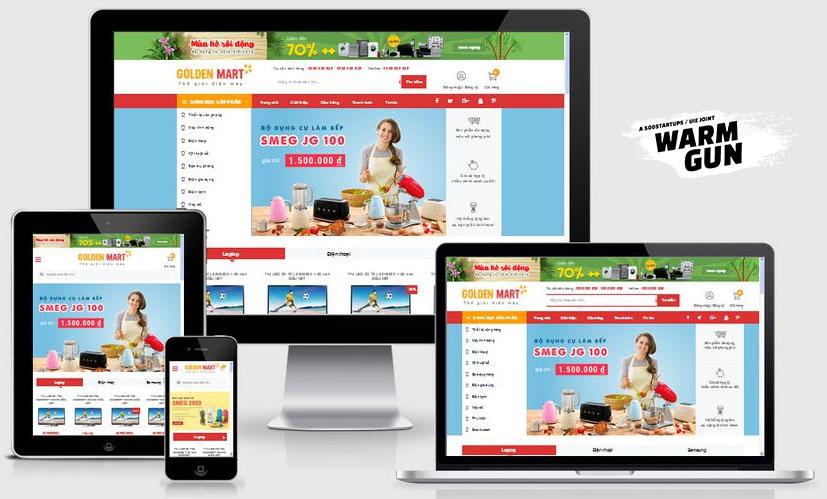 Mẫu website bán hàng