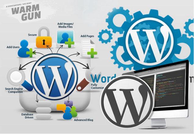 Sử dụng nền tảng WordPress.