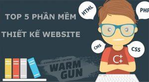 Top 5 phần mềm thiết kế web
