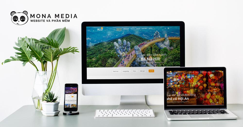 Mẫu website du lịch Travel VietNam