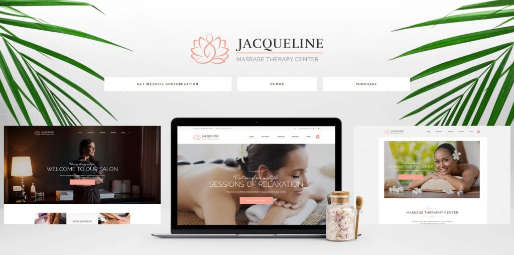 Giao diện website thẩm mỹ viện Jacqueline