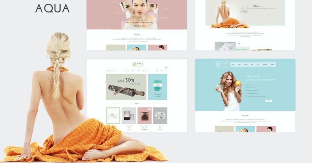 Mẫu thiết kế website spa Aqua