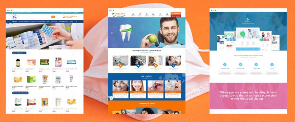 Các chức năng chính trong website thiết bị y tế