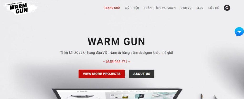 Thiết kế web thiết bị y tế, y khoa tại Warm Gun